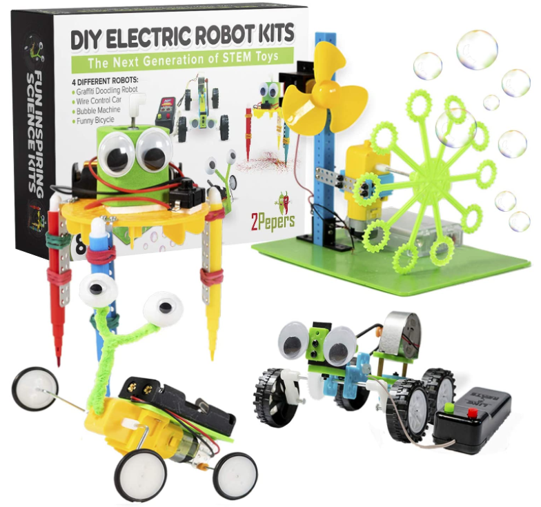 2Pepers Electric Motor Robotic Science Kits