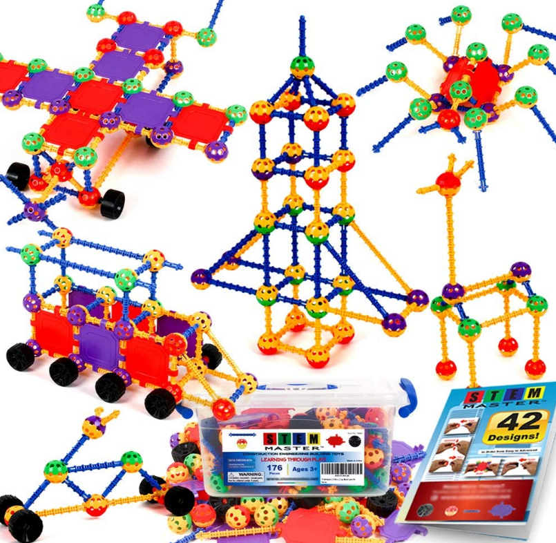 STEM Master 176 piece STEM learning educational construction building toy gift set