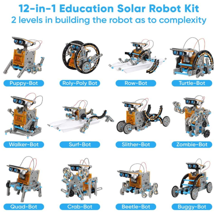 Sillbird STEM 12-in-1 Education Solar Robot Toys