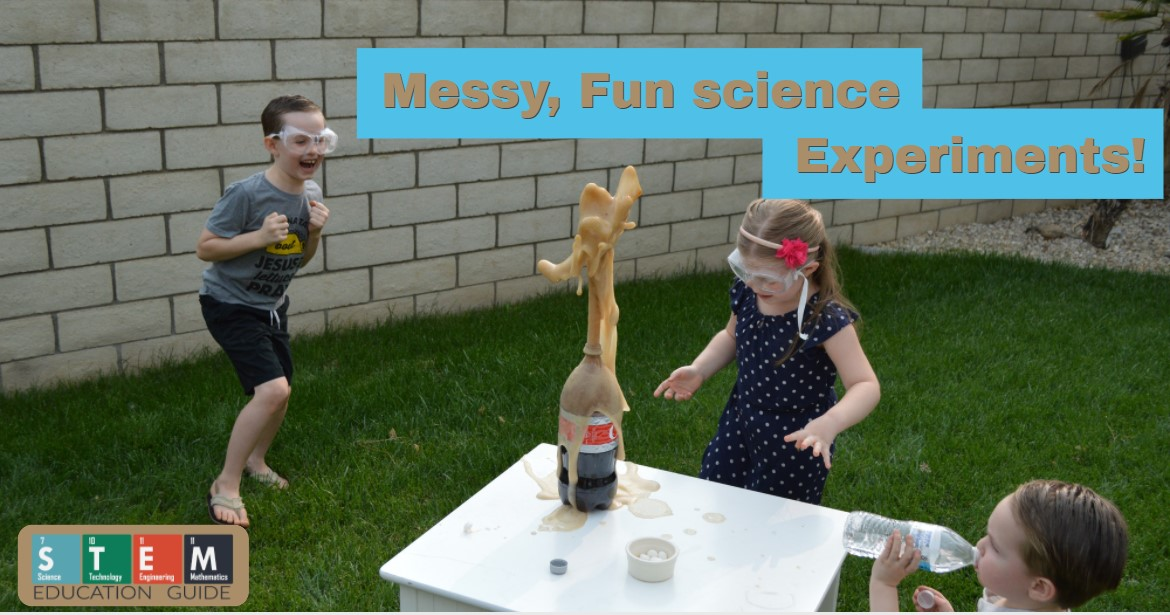 exploding messy science experiments