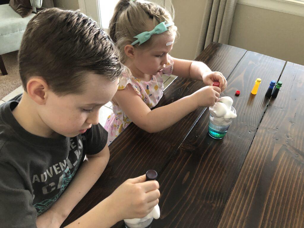 Kindergarten STEM Activities Cloud in a jar