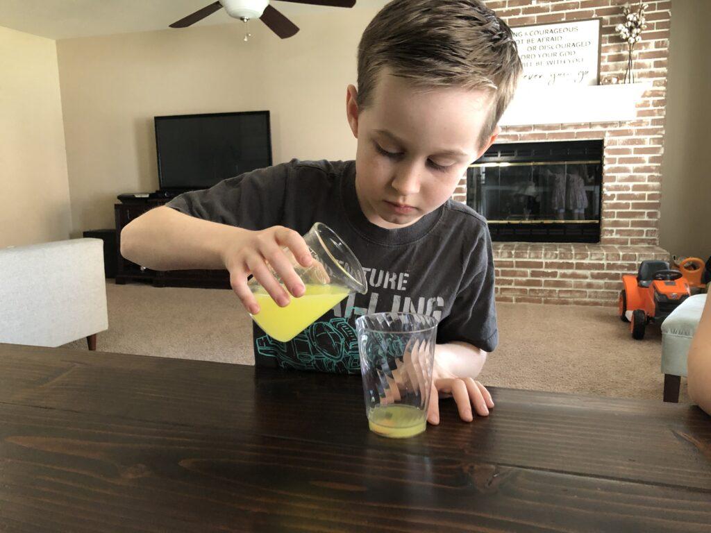 Kindergarten STEM Activities Coin Cleaning Experiment