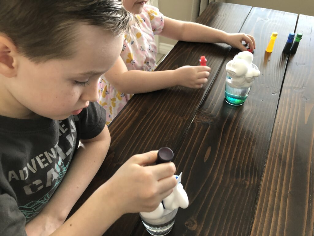kids rain cloud experiment