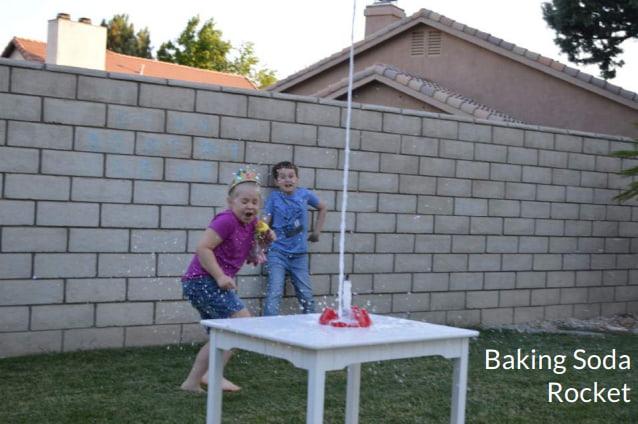 Baking soda rocket