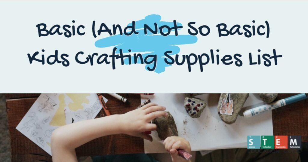 unique kids crafting supplies