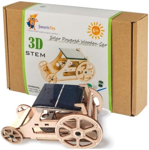 Wooden Solar Car Model Kit