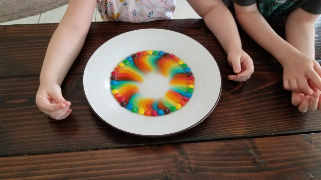 candy colored plate experiment