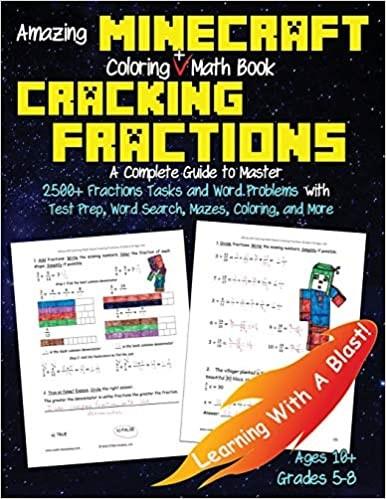 Minecraft Coloring Math Book