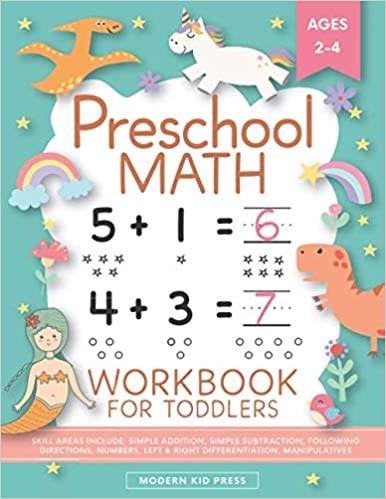 Preschool Math Workbook for Toddlers