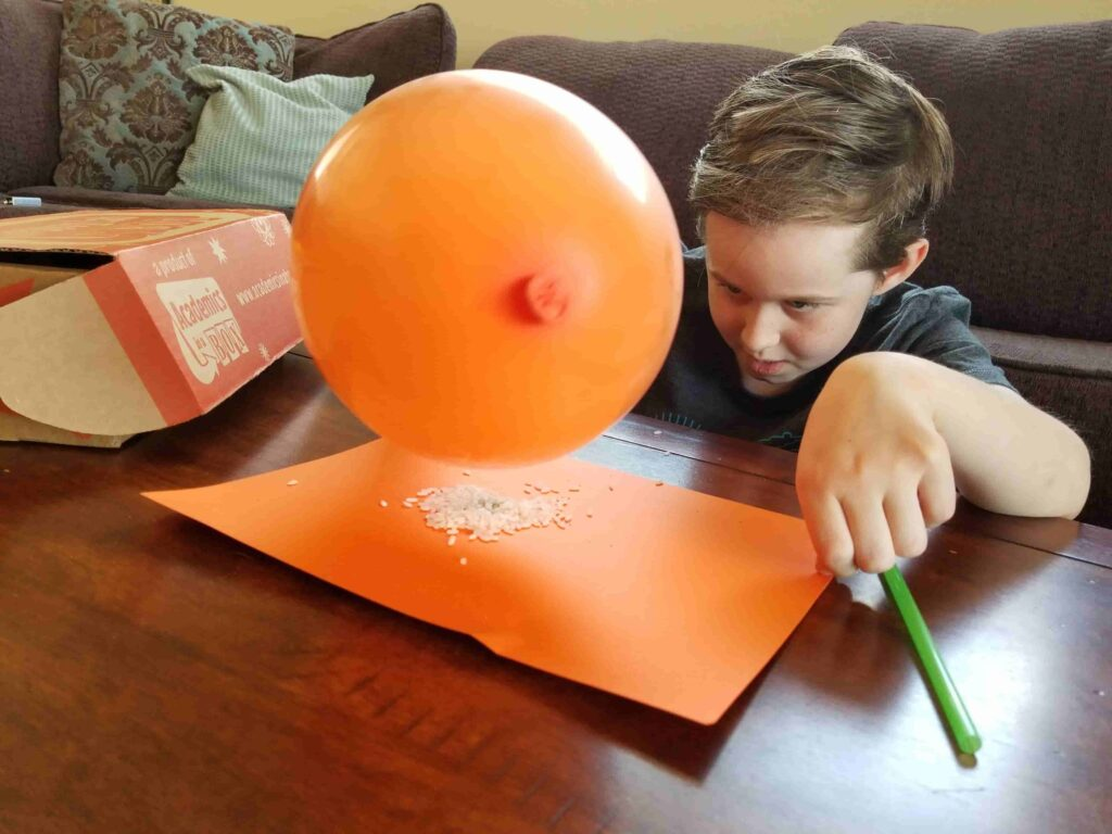 Playing with a STEM kit
