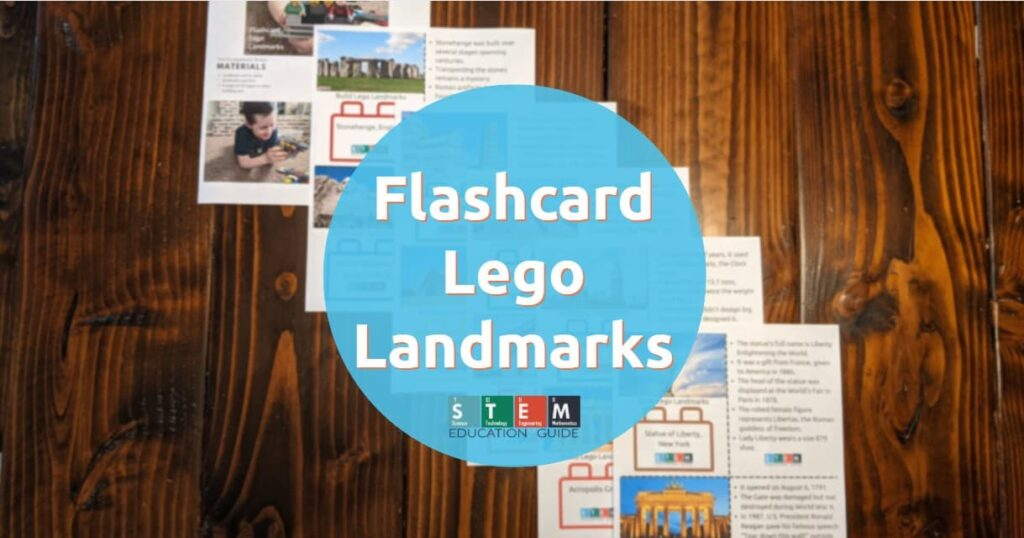 Flashcard Lego Landmarks Worksheets