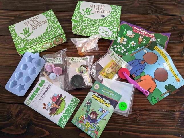 Inside the Green Craft Kids box